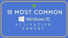 Windows 10 Activation Errors