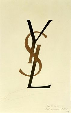 The legendary YSL  logo was designed in 1963 by Adolphe Jean Marie Mouron a/k/a Cassandre