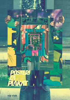 Posters to Cry for poster by Ivorin Vrkaš, Hrvoje Dominko and Ana Somek #optical #illusion #event #design #exhibition #crazy #psyche #poster #hands #plakat #places #club