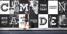 camden market hoardings branding corporate design minimal black mindsparkle mag amsterdam black branding camden corporatedesign hoarding i