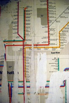 Vignelli exposed | Soulellis #vignelli #map #subway #vintage #nyc