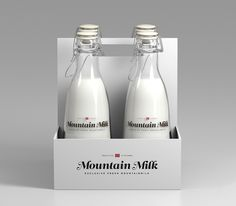 Mountain Milk - Norway #script #branding #packaging #clean #minimal