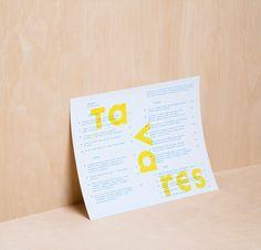 Tavares #menu #identity #food #print