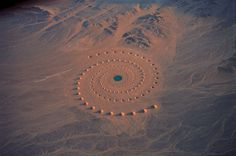 Desert Breath: A Monumental Land Art Installation in the Sahara Desert #concentric #aerial #installation #spiral #land #colossal #photography #art #desert