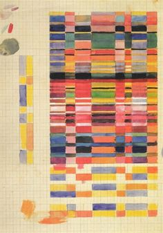 Gunta Stölzl - Bauhaus Master #fabric #process #geometric #concepts #sketch #watercolour