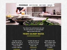 Foodrave #raw #texture #ui #digital #web #landingpage