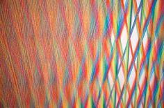 Textile art of artist Gabriel close look