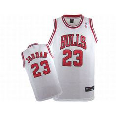 Nike Jordan 23 White NBA Bulls Jersey Red Numbers #fashion
