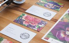 business cards #illustration #collateral #typography