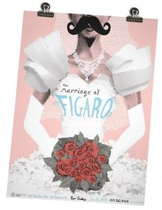 The Marriage of Figaro - kevincraftdesign #pink #rose #poster #collage #drawing