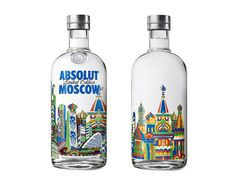 Absolut Moscow limited edition bottle