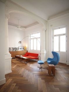 Greek Residence #interior design #home #living room #in #the #middle #of #street