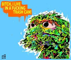 yay!everyday | Tumblr #illustration #oscar #grouch #the