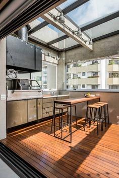 kitchen terrace, Brazil / Mandarina Arquitetura