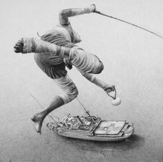 Drawings by Ethan Murrow | 123 Inspiration #flying #ferry #ship #boat #fishing #pencil #sketch