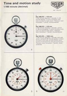 Heuer Catalog #retro #heuer #stopwatches
