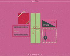 yearofbirthdays.com Christmas time #christmas illustration #year of birthdays #illustration #presents #type design #vintage tags