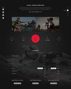 Microsite Segment by Patrick Walsh #activity #black #microsite #website #hiking #minimal #webdesign