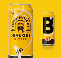 Boddingtons Cans #bodingtons #packaging #illustration #identity #logo #typography