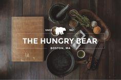 The Hungry Bear Logo design #logo design #inspiration #vintage #restaurant