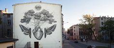 #mural #streetart #heart #moth #engraving