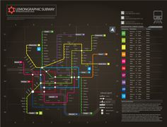 Information graphic // Neon Subway map on Behance #subway #information #maps