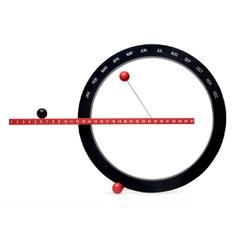 Perpetual Calendar in color Black/ Red