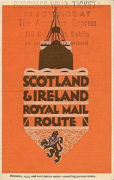 """Scotland & Ireland Royal Mail Route,"" 1932"