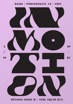 In Motion, poster designed by Martin Martonen