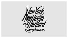 Railroad company logo design evolution #hartford #railroad #design #haven #york #logo #new