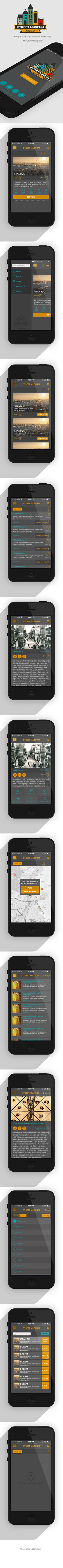 Istanbul Street Museum IOS App on Behance #history #museum #design #yildirim #ui #istanbul #yasemin #mobile #street #ios