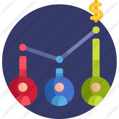 See more icon inspiration related to bar chart, stats, benefits, bar graph, employee, statistics, networking, business and money on Flaticon.