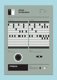 Classic Techno 808 Programming Posters » ISO50 Blog – The Blog of Scott Hansen (Tycho / ISO50) #music #poster