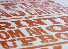 Graphic-ExchanGE - a selection of graphic projects #carving #print #design #woodblock #typography