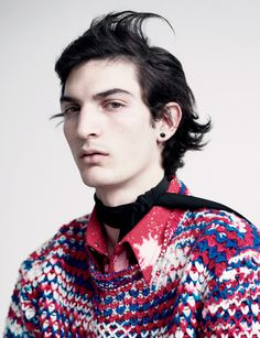 Vogue Hommes International Models: Spring/Summer 2014 Luca Lemaire #fashion #male #models
