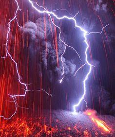 Sakurajima Valcano2 #lightning #photography #fire #volcano
