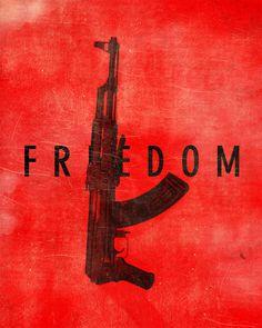 #posterdesign #poster #freedom #ak47 #typography #texture