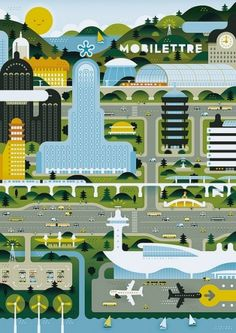 Green City | Flickr - Photo Sharing! #illustration