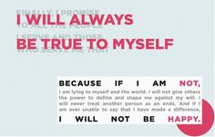 True to Myself #truth #design #wilken #ethics #layout #kristi