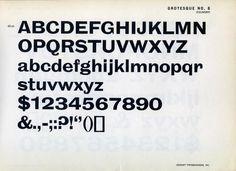 Type specimen of Grotesque No. 8 by Stephenson Blake. #type #specimen #typography