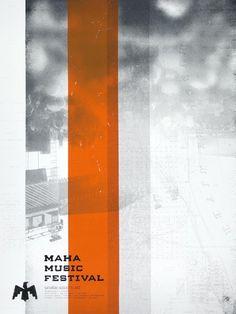 Maha Music Festival Logo #maha #logo #festival #branding