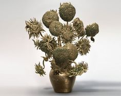 3D printed sculptural replica of vincent van gogh's sunflowers #vincent #van #3d #gough