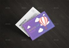 Invitation Card Mockup Template