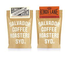 Salvador Coffee - Modern Functional with a touch of heritage labels #packaging #modern #functional #coffee