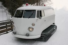van1 Snow tracks from VW van photo #van #vw #snow tracks