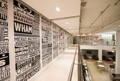 Sony Music Timeline #interior #design #typography