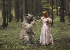 Photograph Untitled by Katerina Plotnikova on 500px #bear #forrest #whimsical