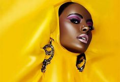 Google Image Result for http://www.thecoolhunter.net/images/stories/2007pics/storiesnew2007pics/marchpics/fncl.jpg #glamour #lips #yellow #earrings #purple #fashion #shiny #beauty