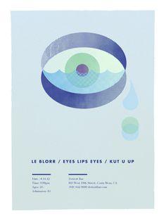 LeBlorr.EyesLipsEyes.KutUUp.DetroitBar.8.14.12 #print #gig #show #poster #band