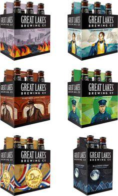 great, lakes, great lakes, beer, box, packaging